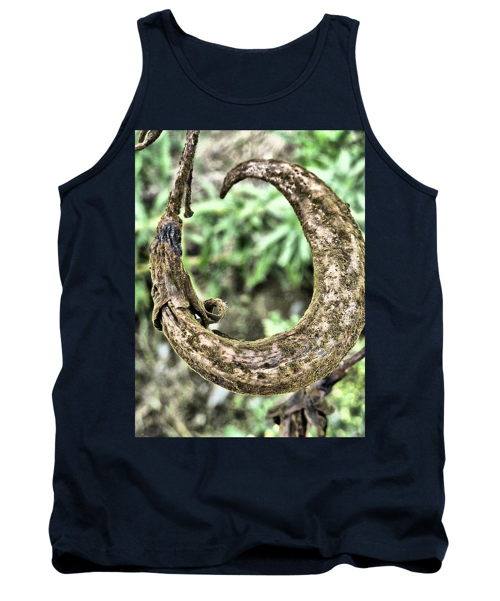Seed; Pod; Curly; Dried; Withered; Aged; Brown; Green; Autumnal Tank Top featuring the photograph Curly by Steve Taylor