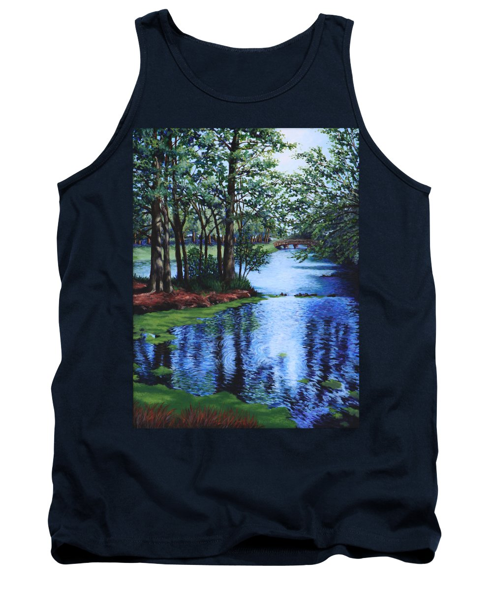 Landscape Tank Top featuring the painting Dancing Waters by Penny Birch-Williams