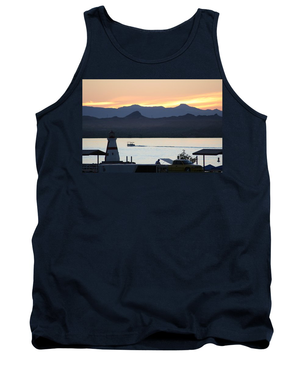Lake Tank Top featuring the photograph Days End At The Lake by David S Reynolds