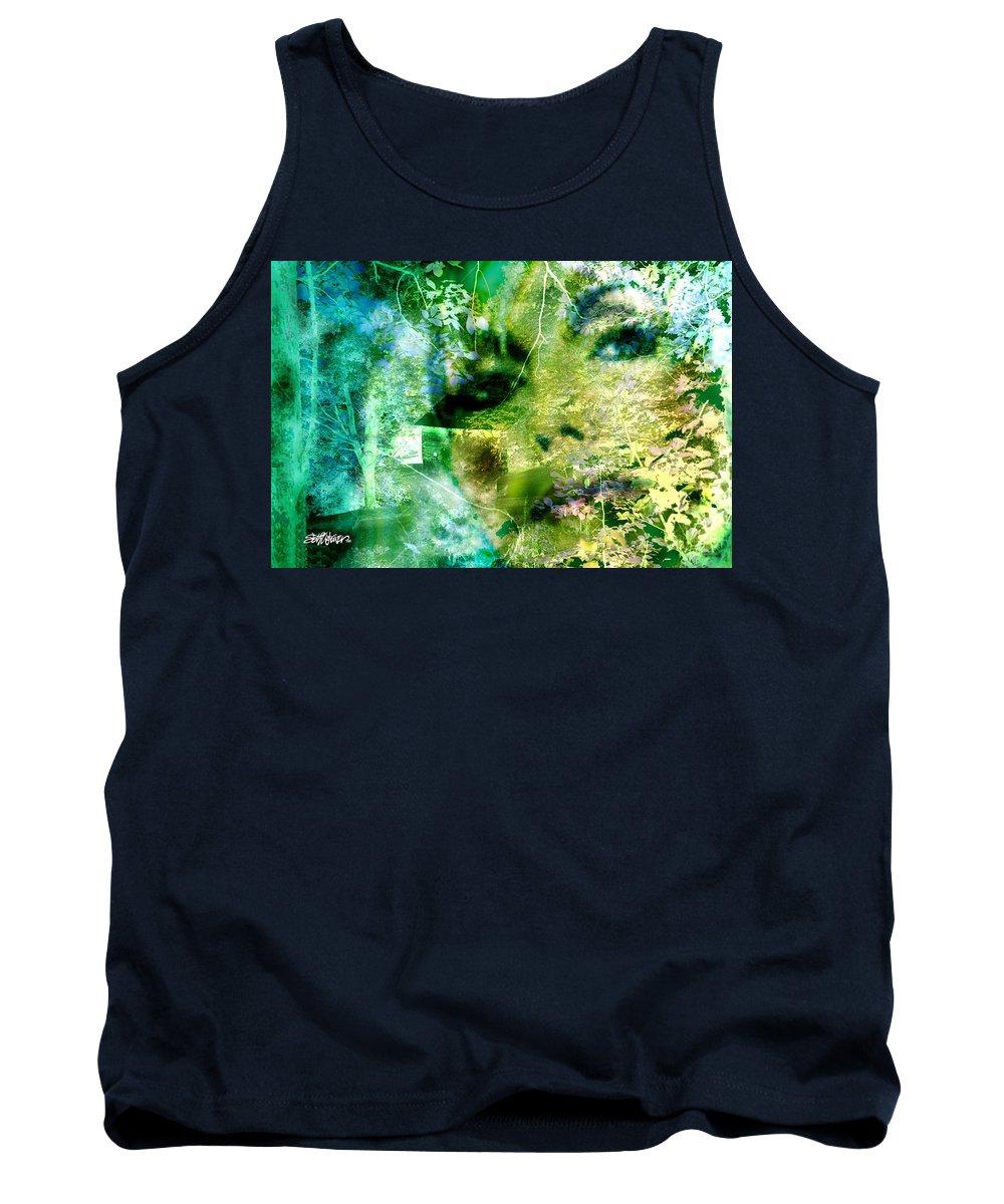 Deep Woods Wanderings Tank Top featuring the digital art Deep Woods Wanderings by Seth Weaver