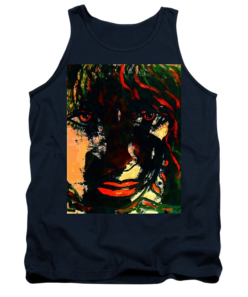Woman Tank Top featuring the painting Determination by Natalie Holland