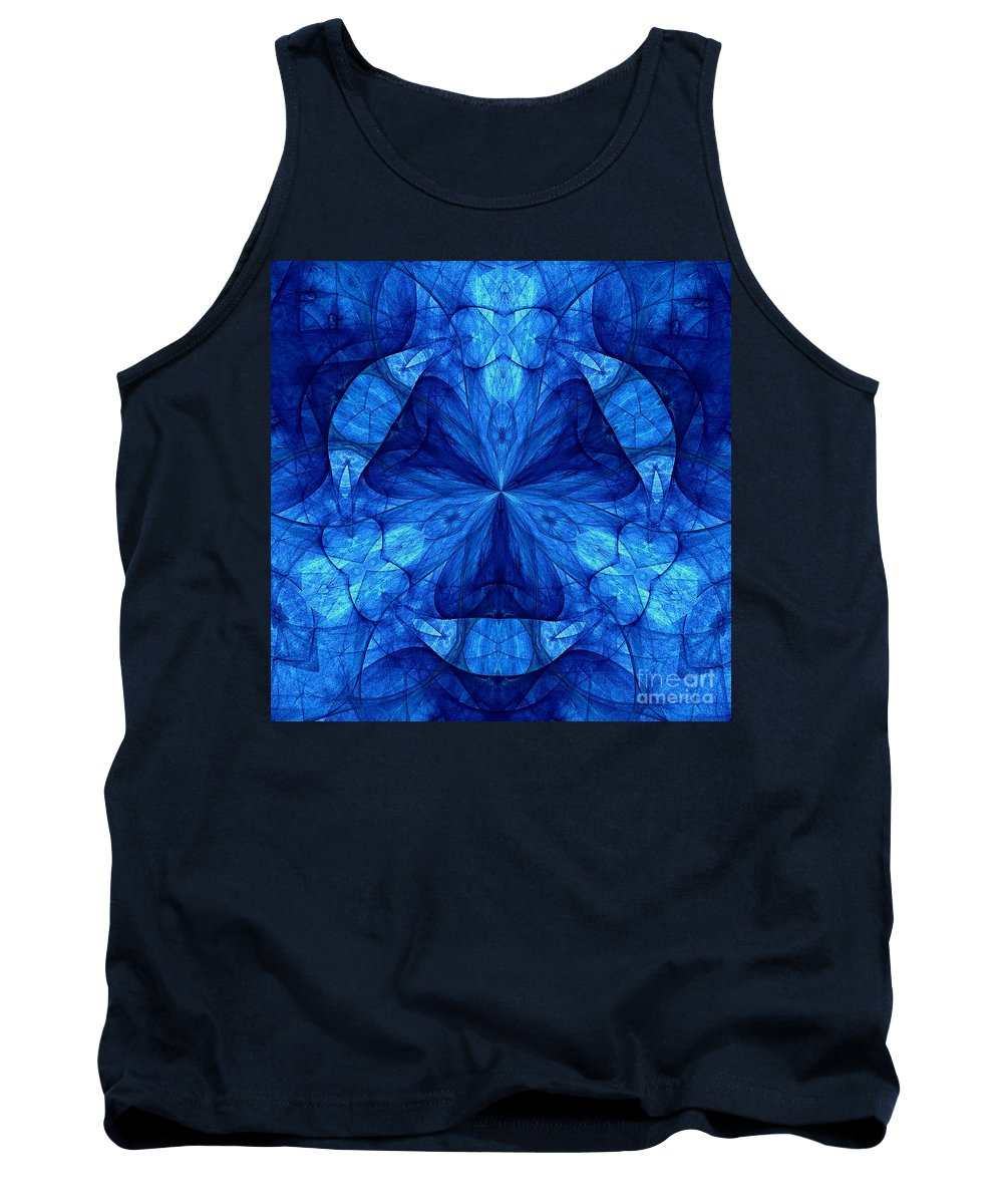 Devilish Dream Fractal Tank Top featuring the digital art Devilish Dream Fractal by Maria Urso