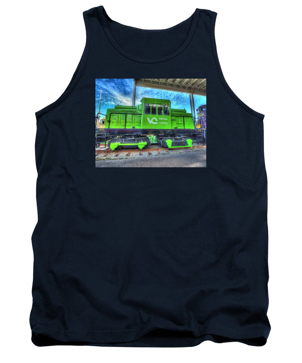 Historic Tank Top featuring the photograph Diesel Locomotive Virginia Central No 3 by Greg Hager