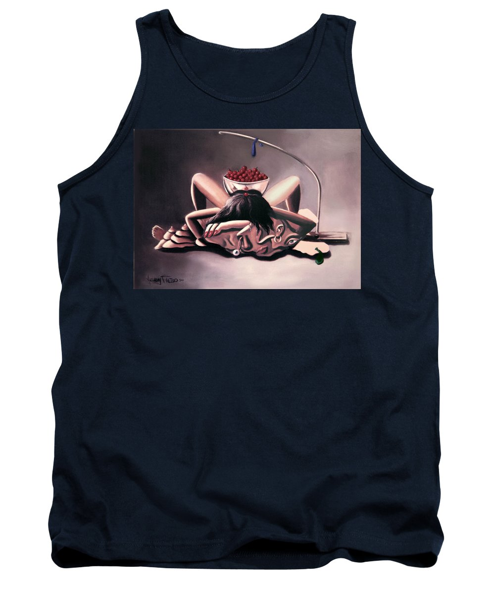 Disposable Woman Tank Top featuring the painting Disposable Woman by Anthony Falbo