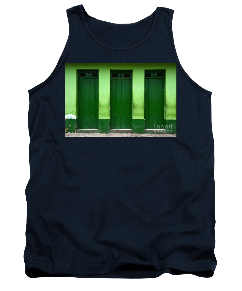Door Tank Top featuring the photograph Doors And Windows Lencois Brazil 1 by Bob Christopher