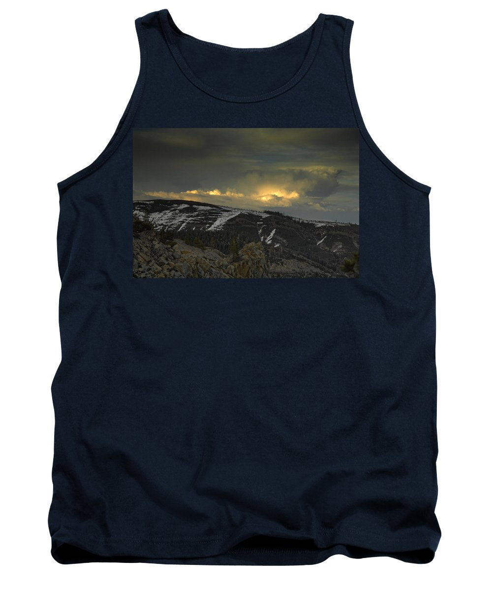 Mountains Tank Top featuring the photograph Drama Is Coming by Donna Blackhall