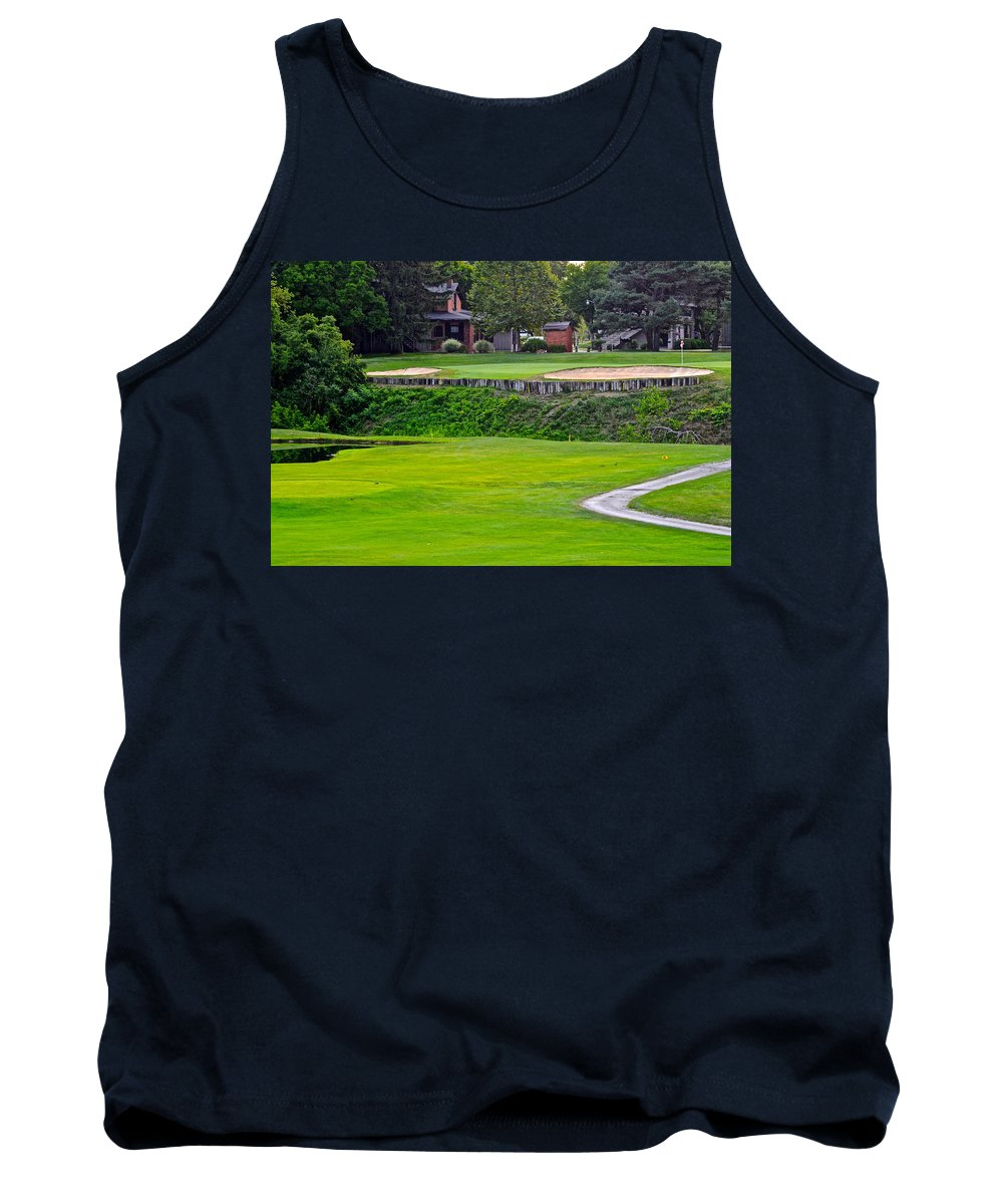 Elevated Tank Top featuring the photograph Elevated Green by Frozen in Time Fine Art Photography