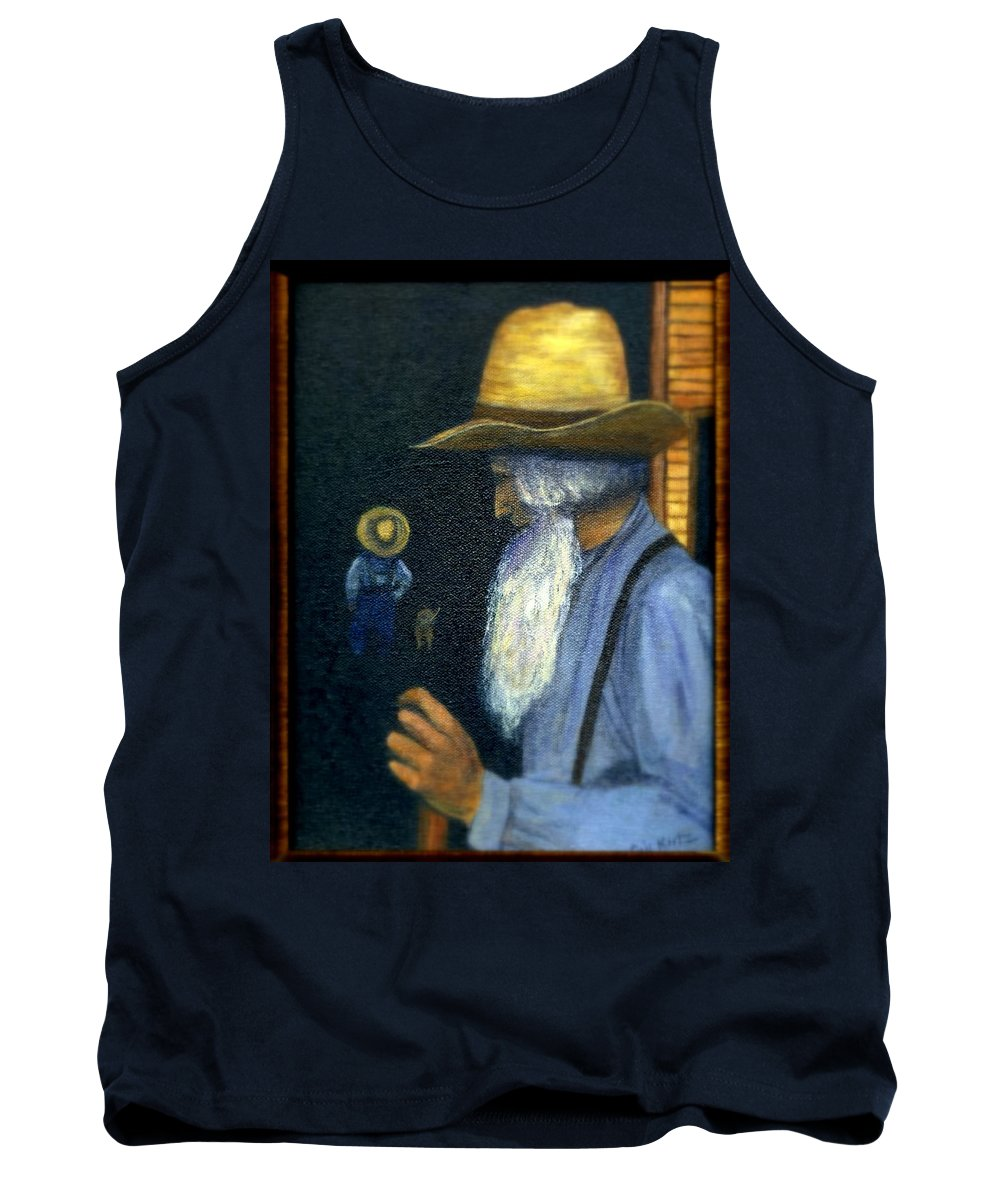 Men Tank Top featuring the painting Eli Remembers by Gail Kirtz