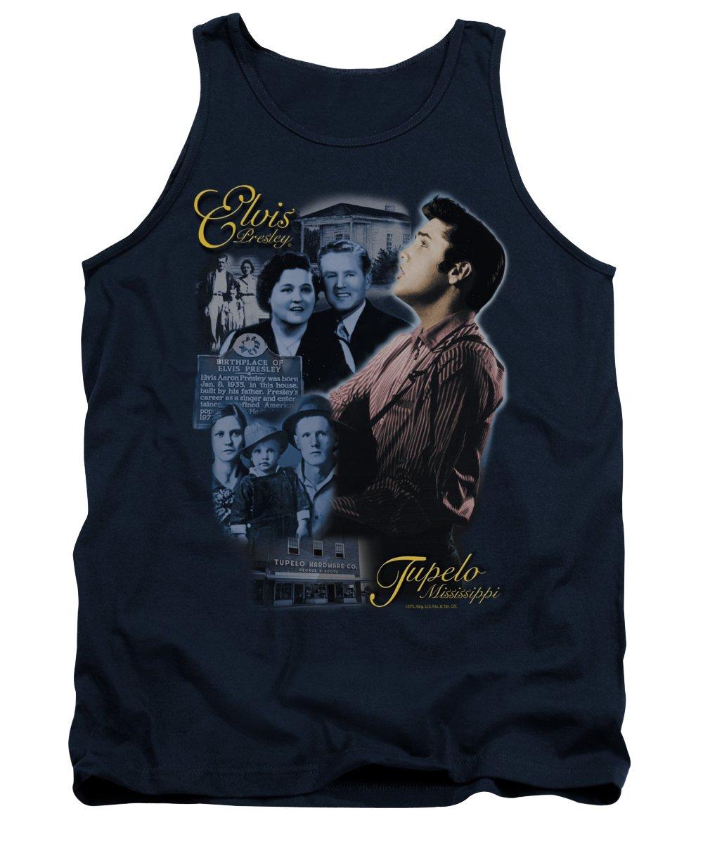 Elvis Tank Top featuring the digital art Elvis - Tupelo by Brand A