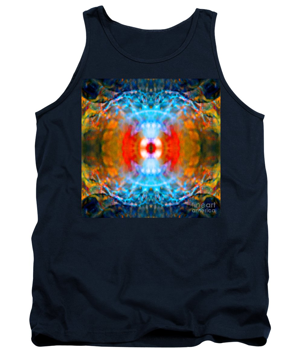 Rainbow Tank Top featuring the photograph End Times Mandala by Susan Bloom