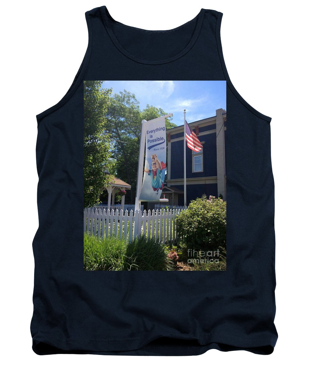 Flag Tank Top featuring the photograph Everything Is Possible by Beth Saffer