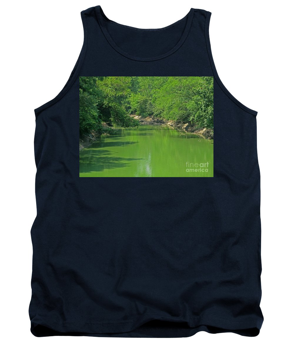 Green Tank Top featuring the photograph Everywhere Green by Ann Horn