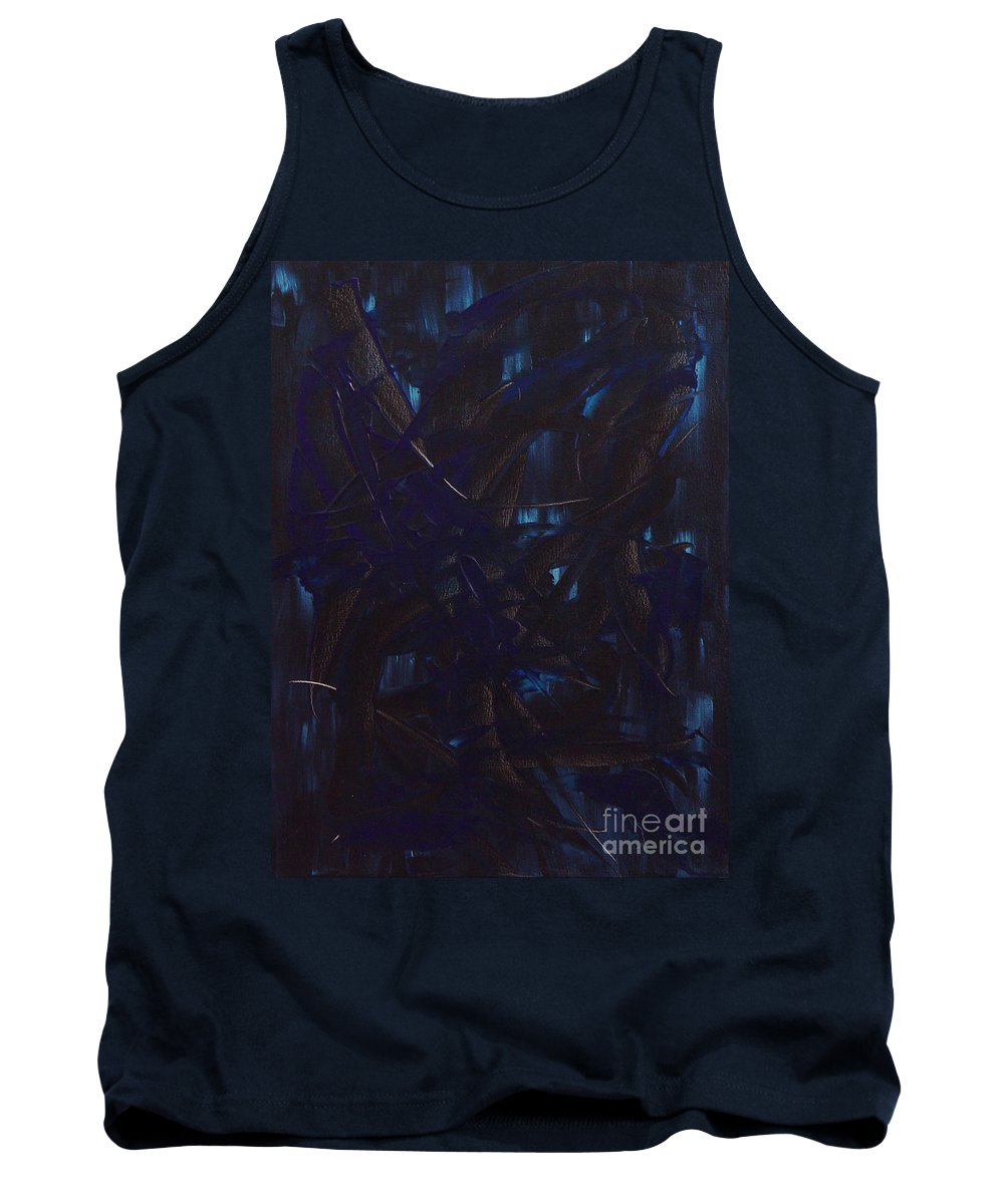 Abstract Tank Top featuring the painting Expectations Blue by Dean Triolo