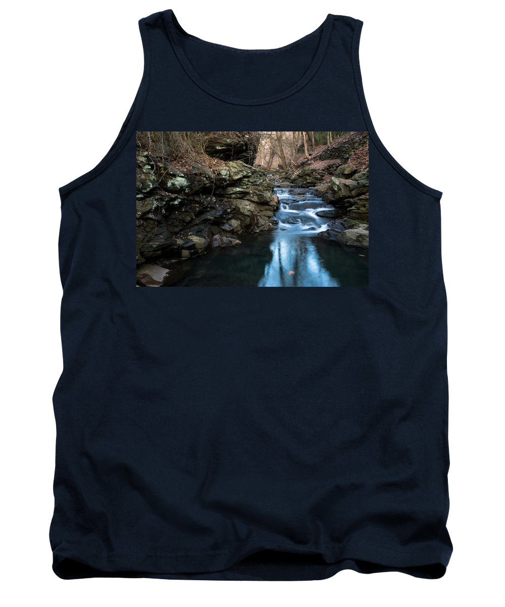 Falls Tank Top featuring the photograph Fairmont Falls by Scott Hafer