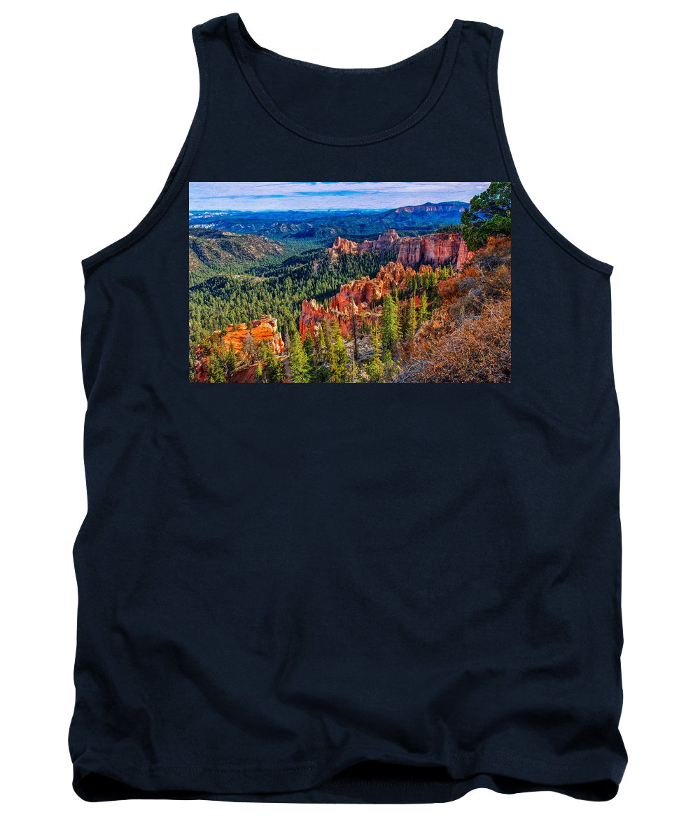 Landscape Tank Top featuring the photograph Farview Point by John M Bailey