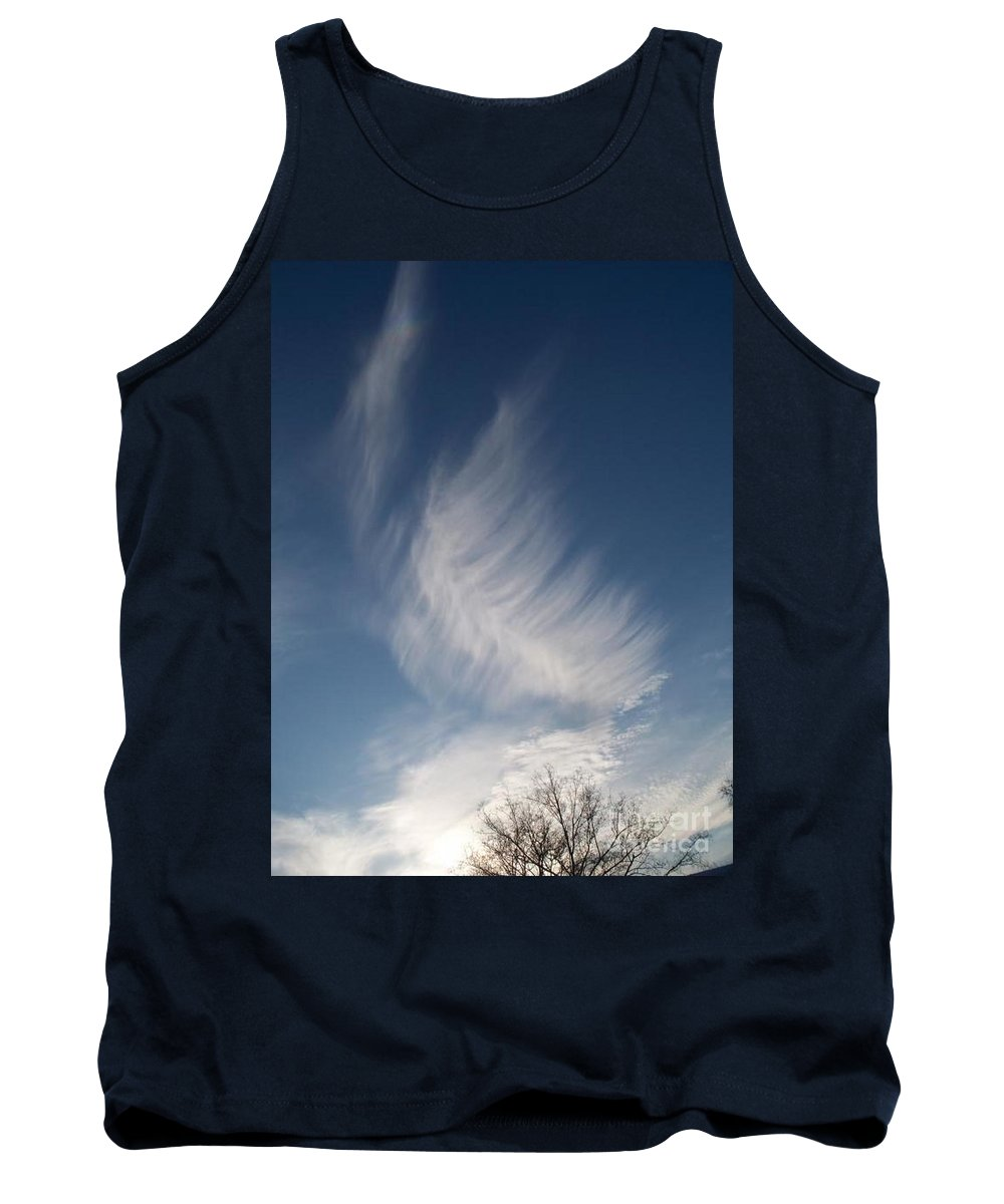 Angel Tank Top featuring the photograph Feather Cloud By Diane Schiabor by Eric Schiabor