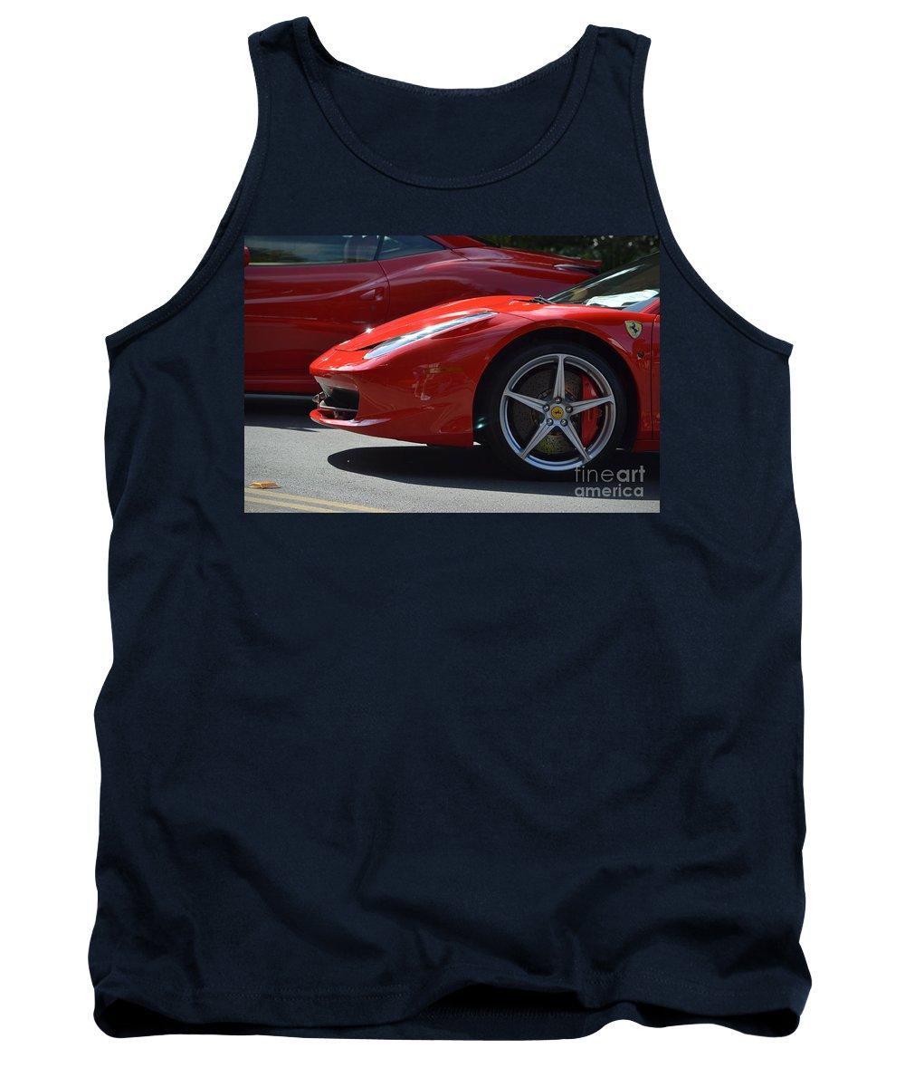 Tank Top featuring the photograph Ferrari by Dean Ferreira
