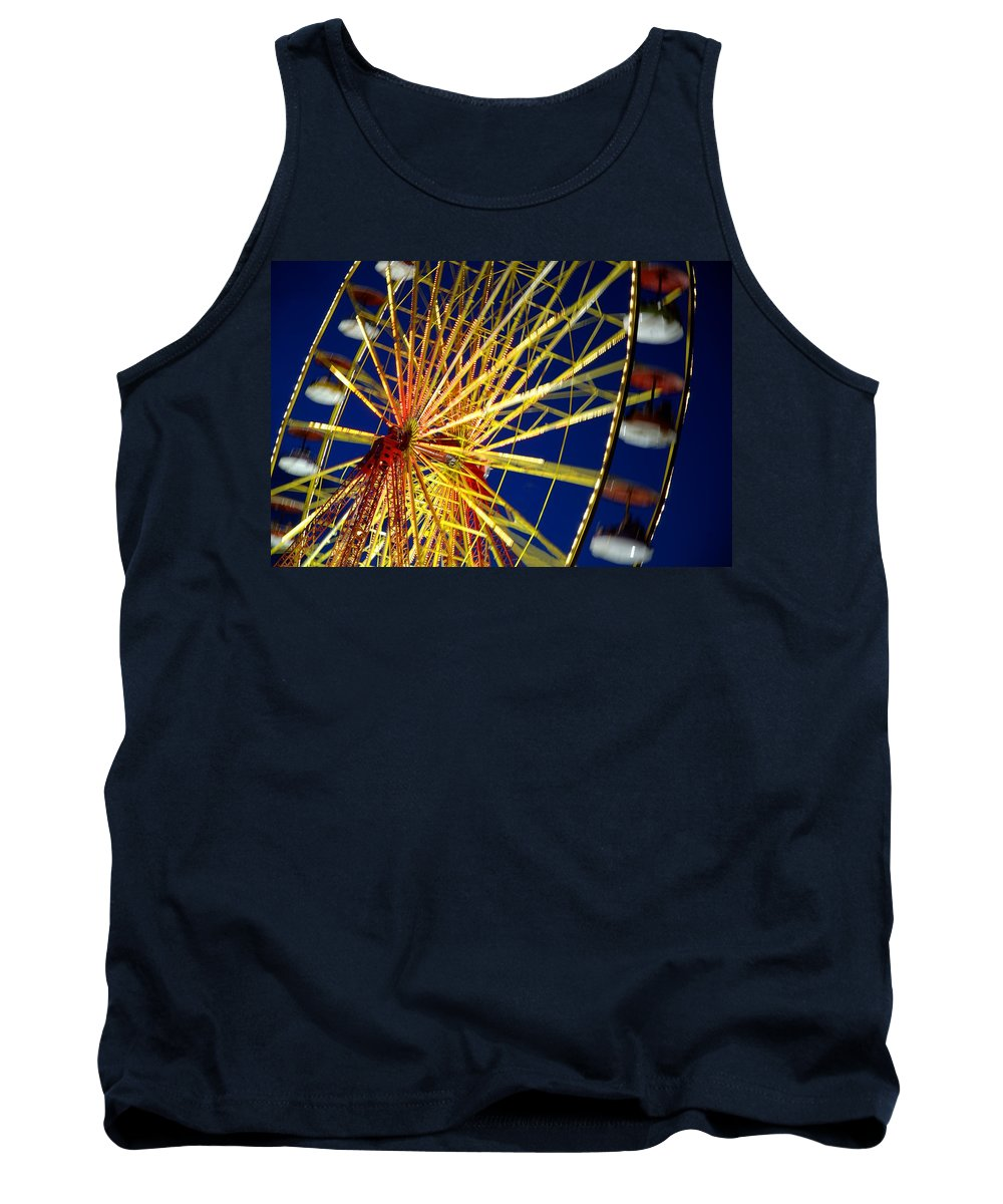 Blur Tank Top featuring the photograph Ferris Wheel by Dean Muz