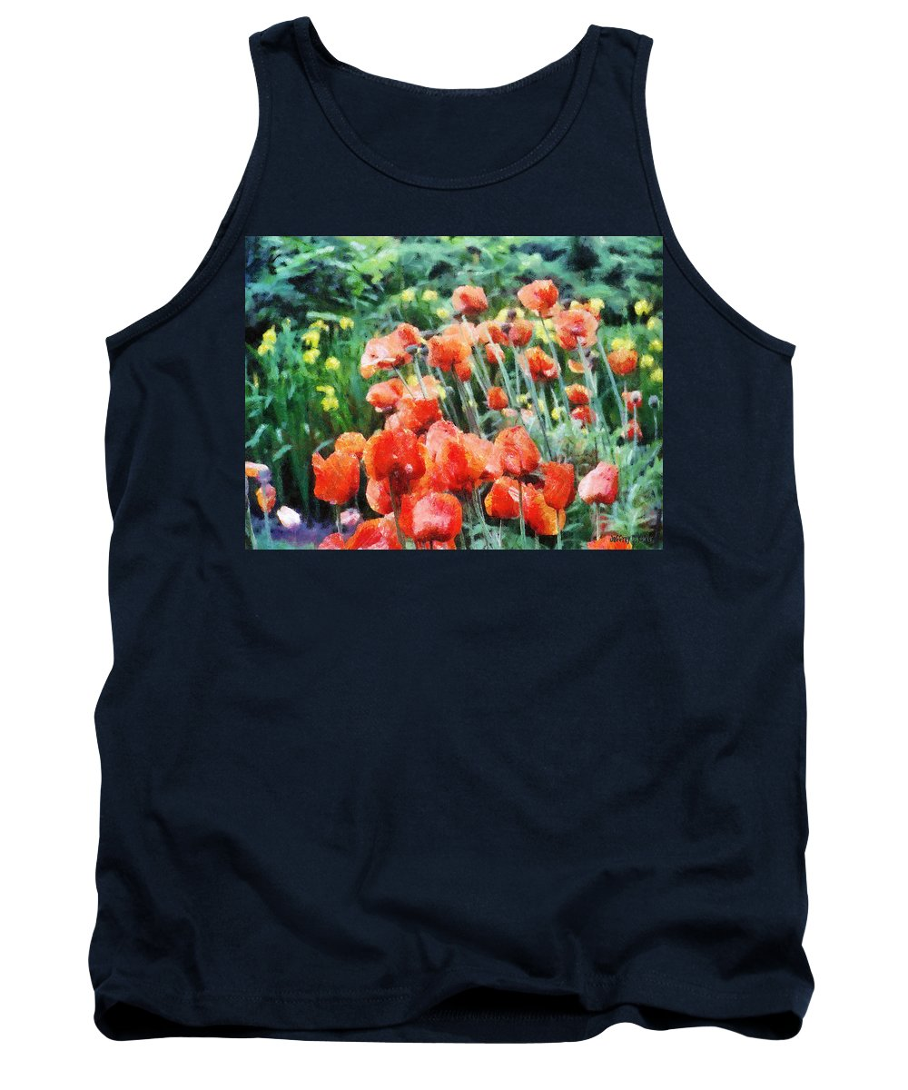 Canadian Tank Top featuring the painting Field Of Flowers by Jeffrey Kolker