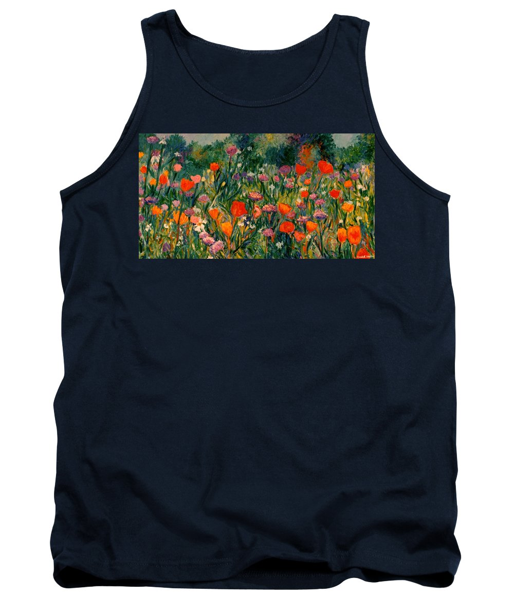 Flowers Tank Top featuring the painting Field Of Flowers by Kendall Kessler