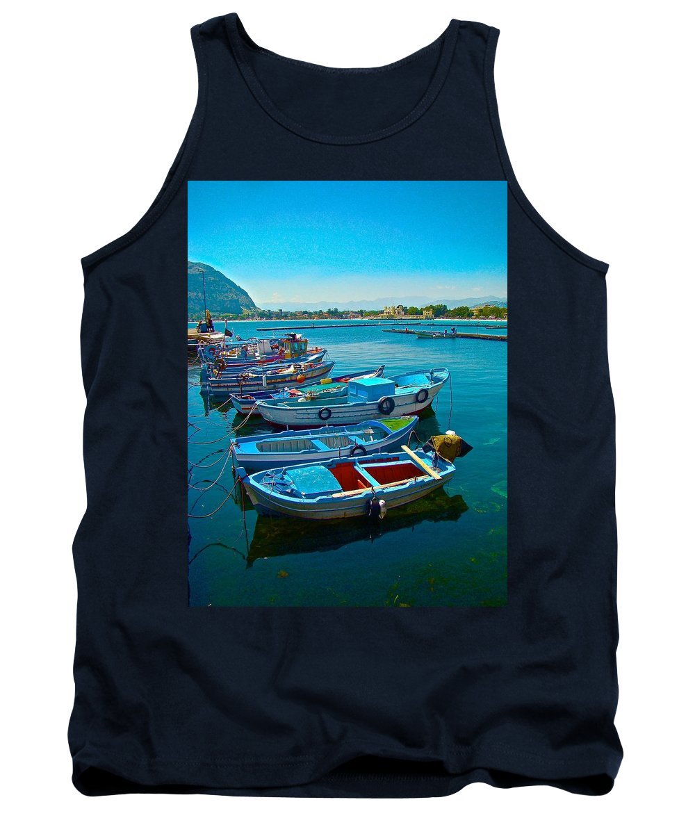 Travel Tank Top featuring the photograph Fishing Livelihood by Tim G Ross