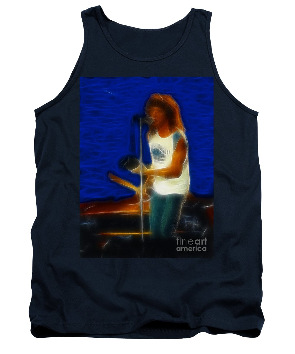 Foreigner Tank Top featuring the photograph Foreigner-lou-ga10-fractal by Gary Gingrich Galleries