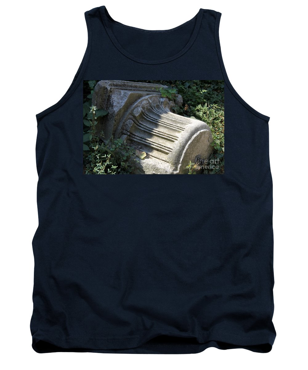 Roman Bath Tank Top featuring the photograph Fragment Of An Ancient Pillar by Christiane Schulze Art And Photography