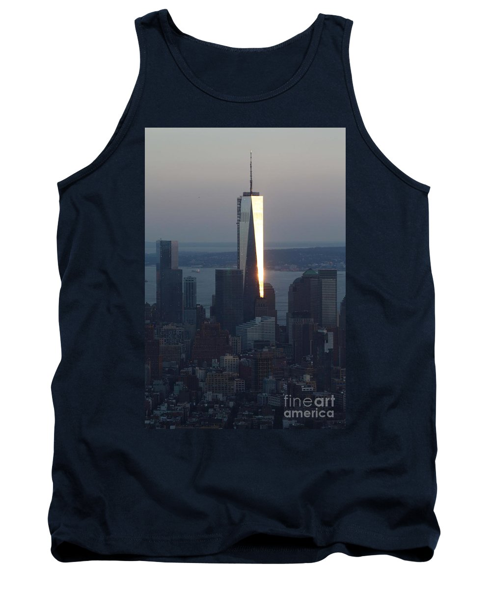 Freedom Tower Tank Top featuring the photograph Freedom Tower by John Telfer