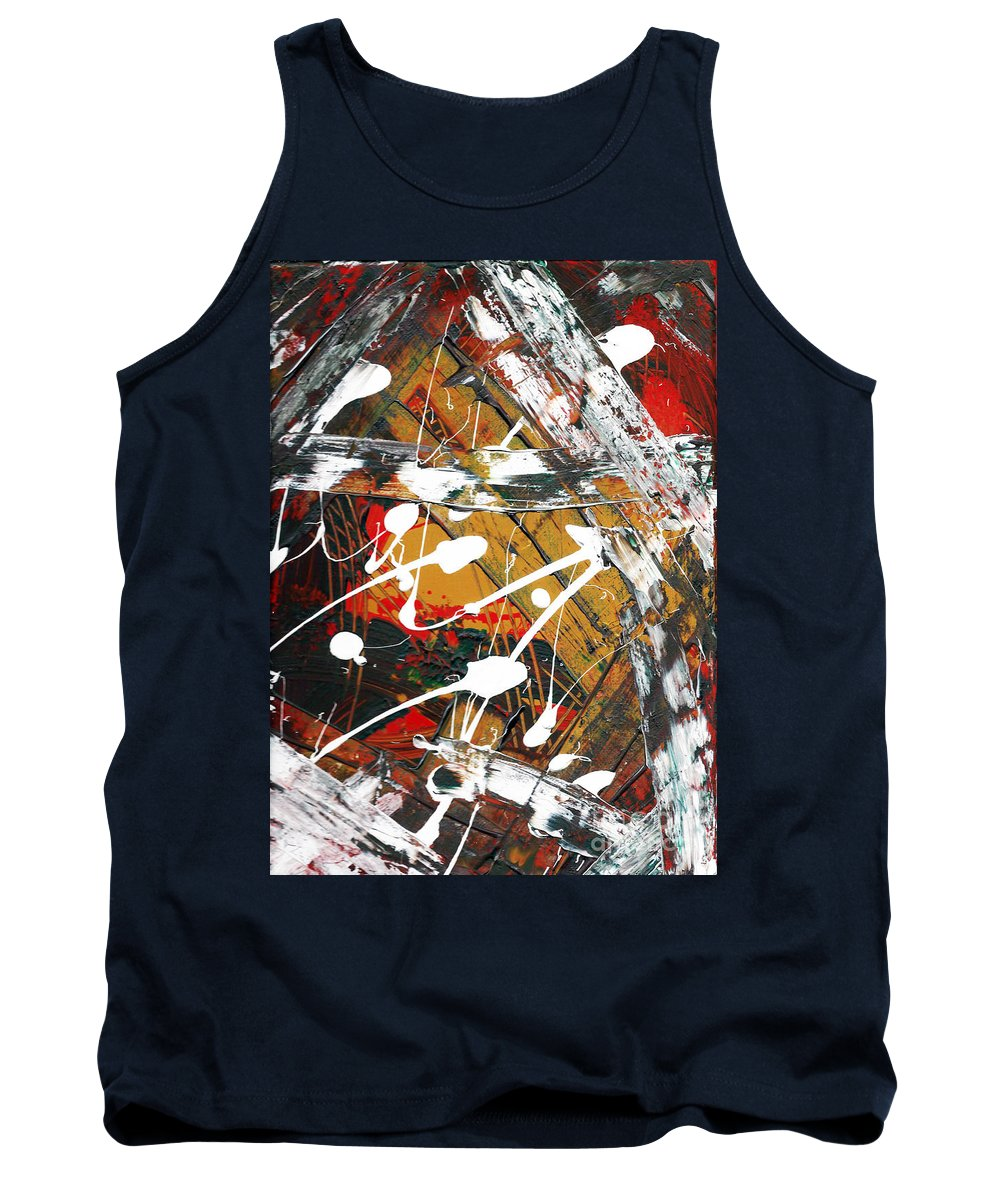 Abstract Painting Tank Top featuring the painting Fresh Paint By Janelle Dey by Janelle Dey