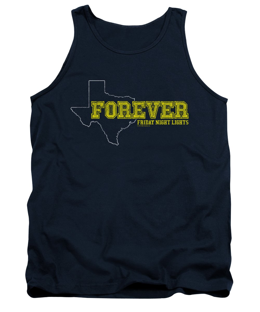 Friday Night Lights Tank Top featuring the digital art Friday Night Lights - Texas Forever by Brand A