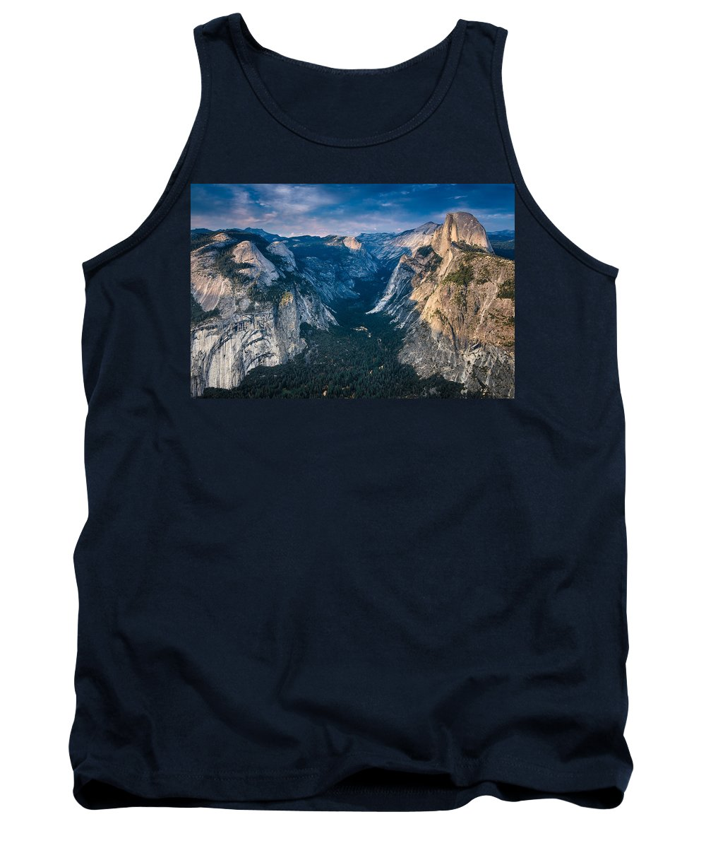 Yosemite National Park Tank Top featuring the photograph From Glacier Point by Greg Nyquist