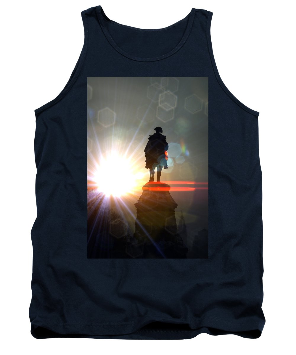 General Statue Tank Top featuring the photograph General In Sunrise Flares by Alice Gipson