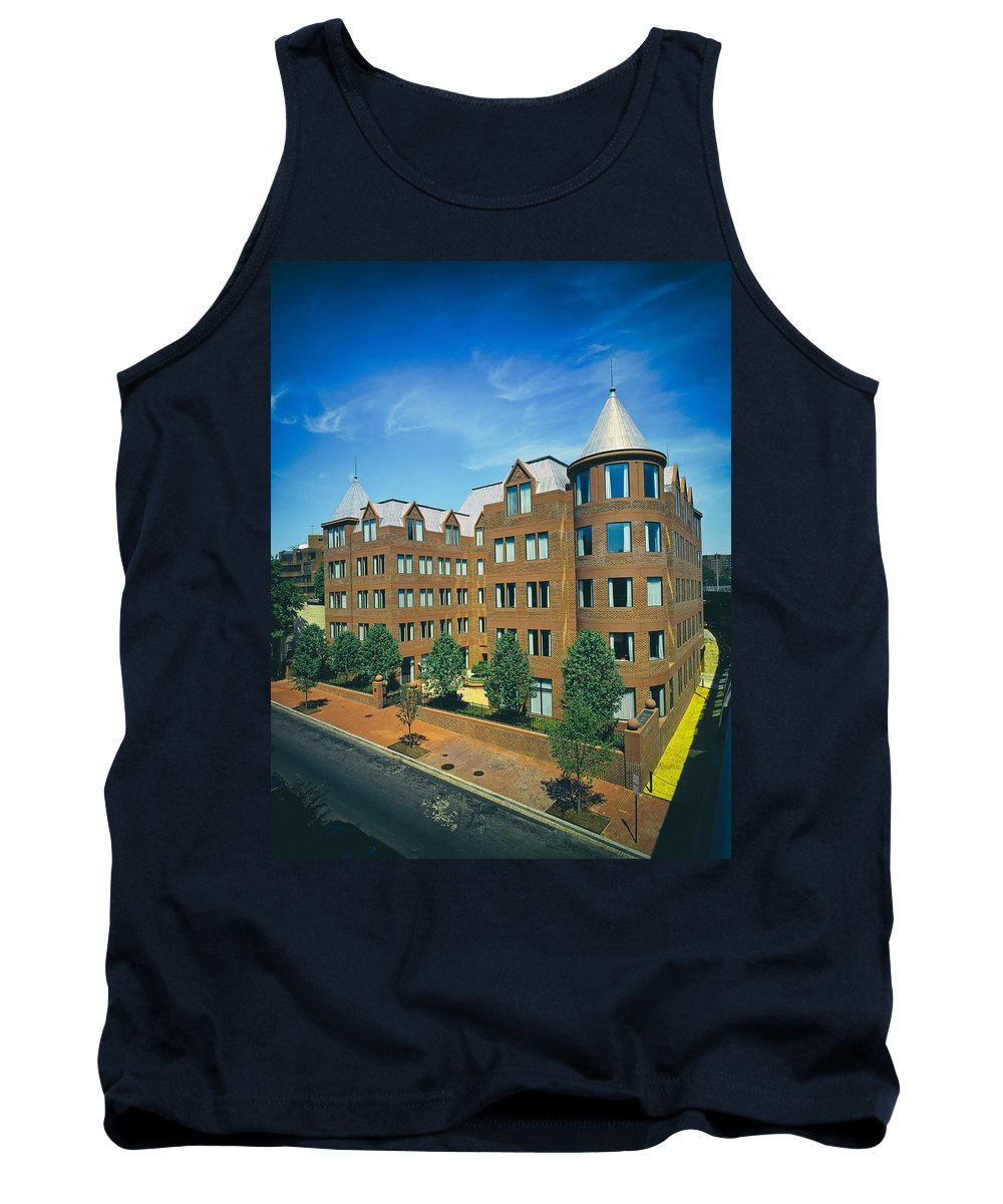 Georgetown Tank Top featuring the photograph Georgetown Apartments - 1980s by Mountain Dreams