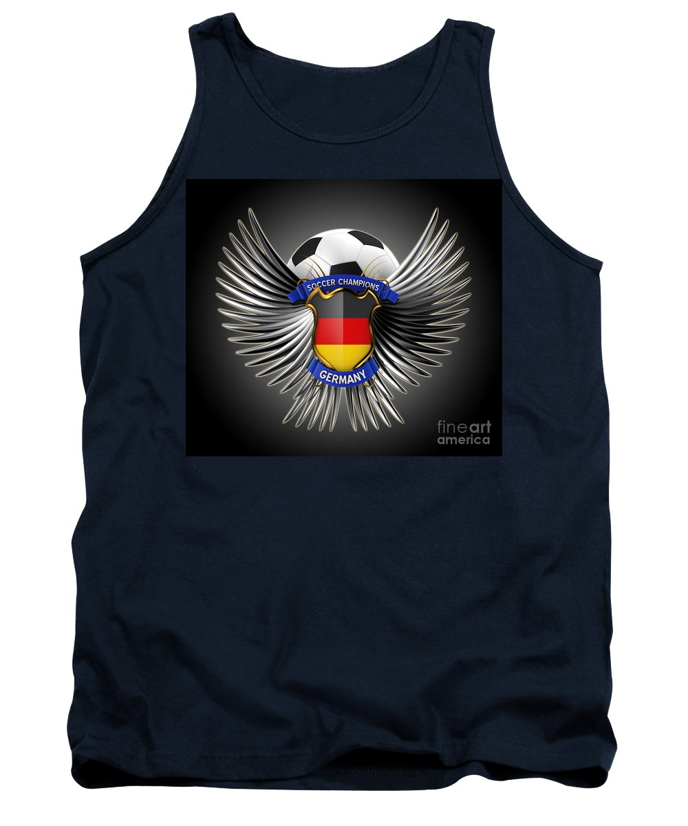 Background Tank Top featuring the digital art German Soccer Champions by Carsten Reisinger