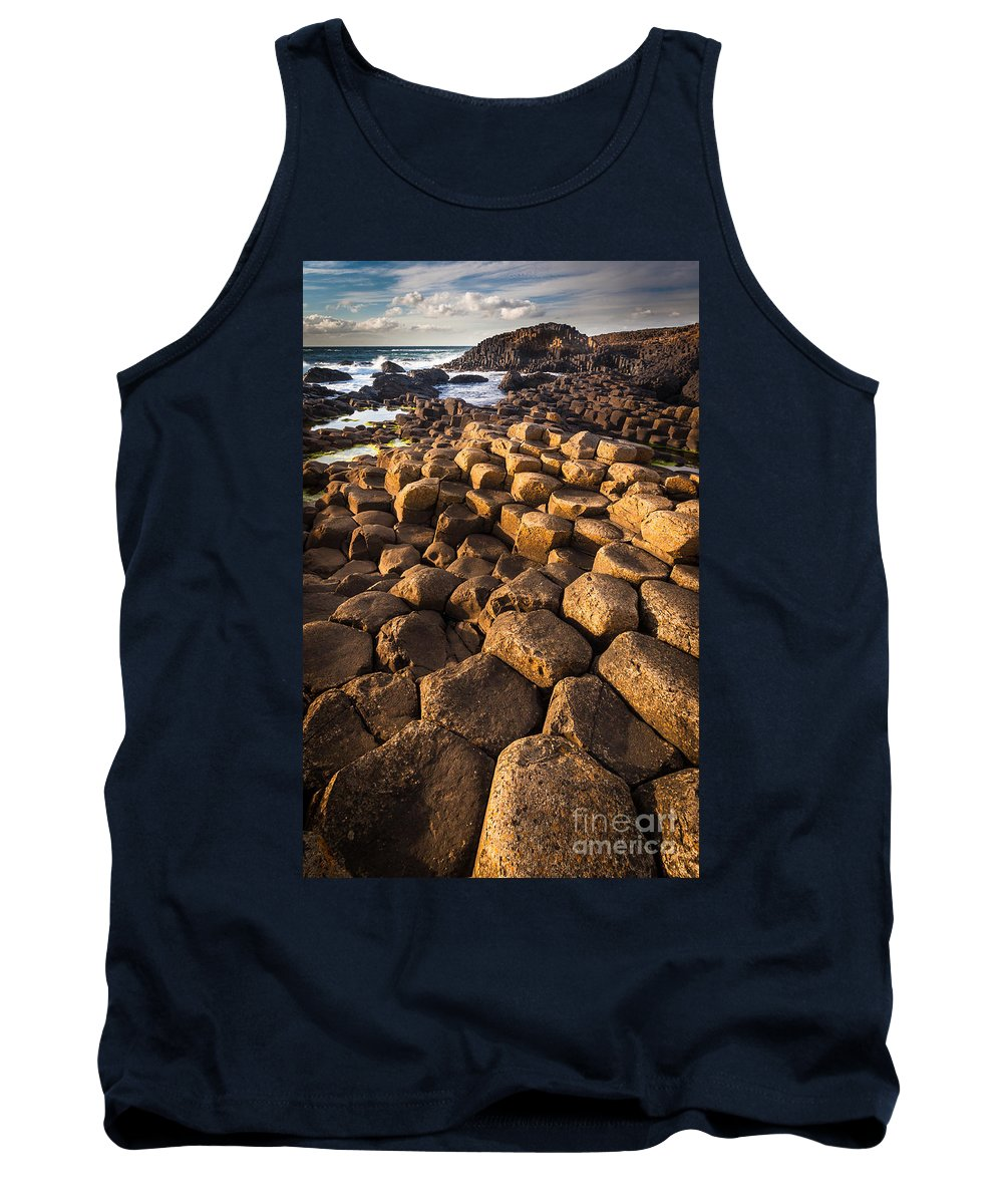 Europe Tank Top featuring the photograph Giant's Causeway Bricks by Inge Johnsson