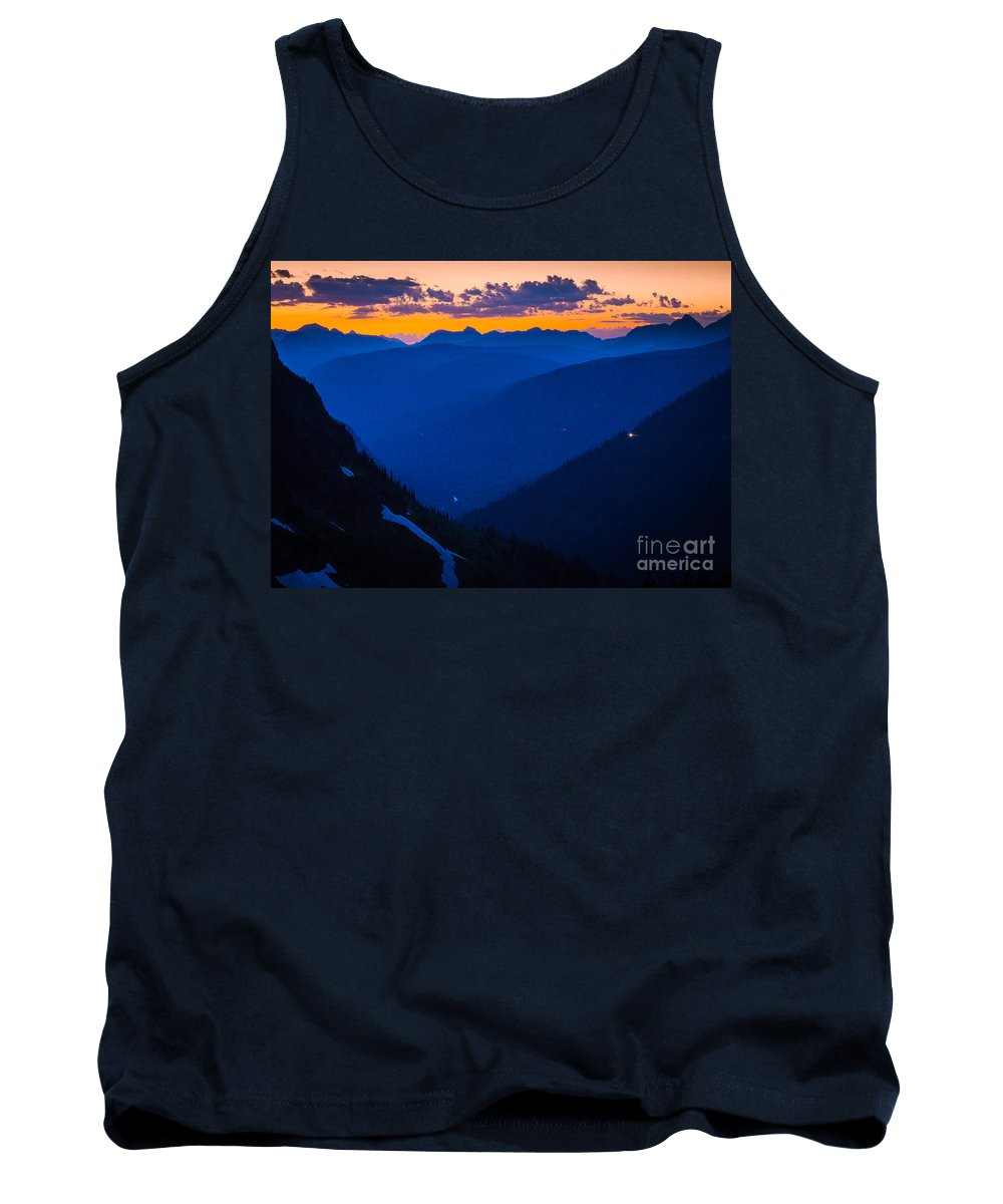 America Tank Top featuring the photograph Going-to-the-sun Sunset by Inge Johnsson