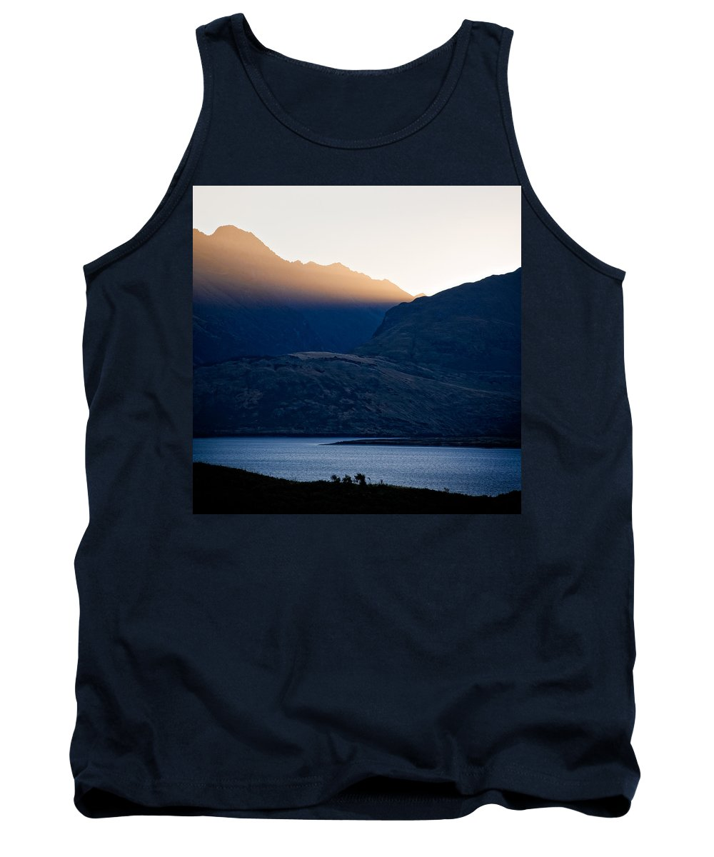 New Zealand Tank Top featuring the photograph Golden Rays by Dave Bowman