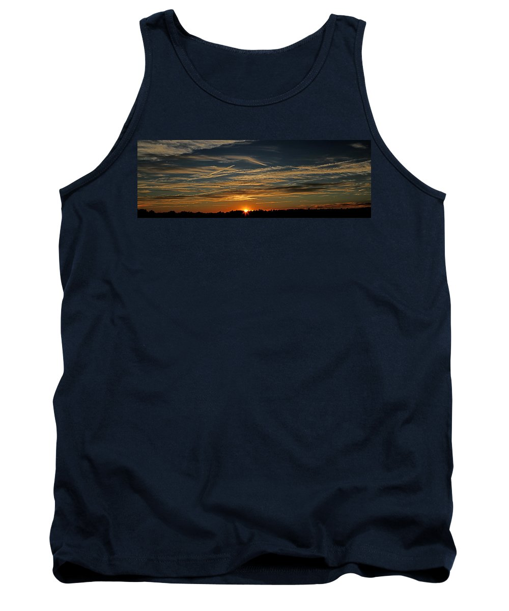 Sunset Tank Top featuring the photograph Golden Sunset by James F Towne
