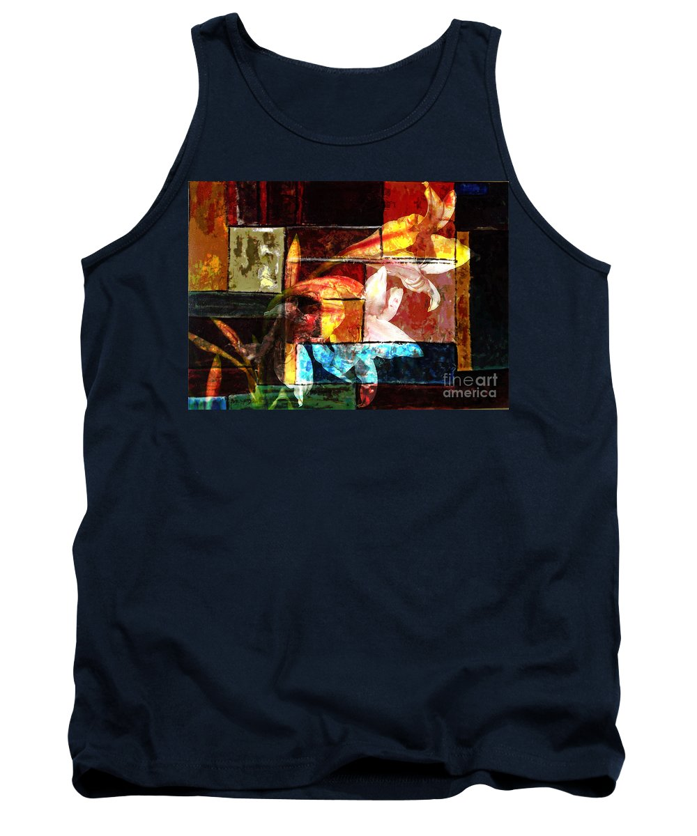 Abstract Tank Top featuring the digital art Gracefull by Yael VanGruber