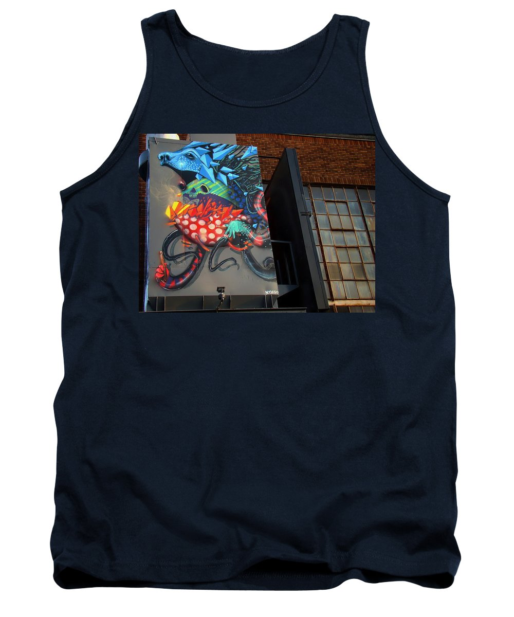 Grafitti Art Tank Top featuring the photograph Grafitti And The Panes by Alice Gipson