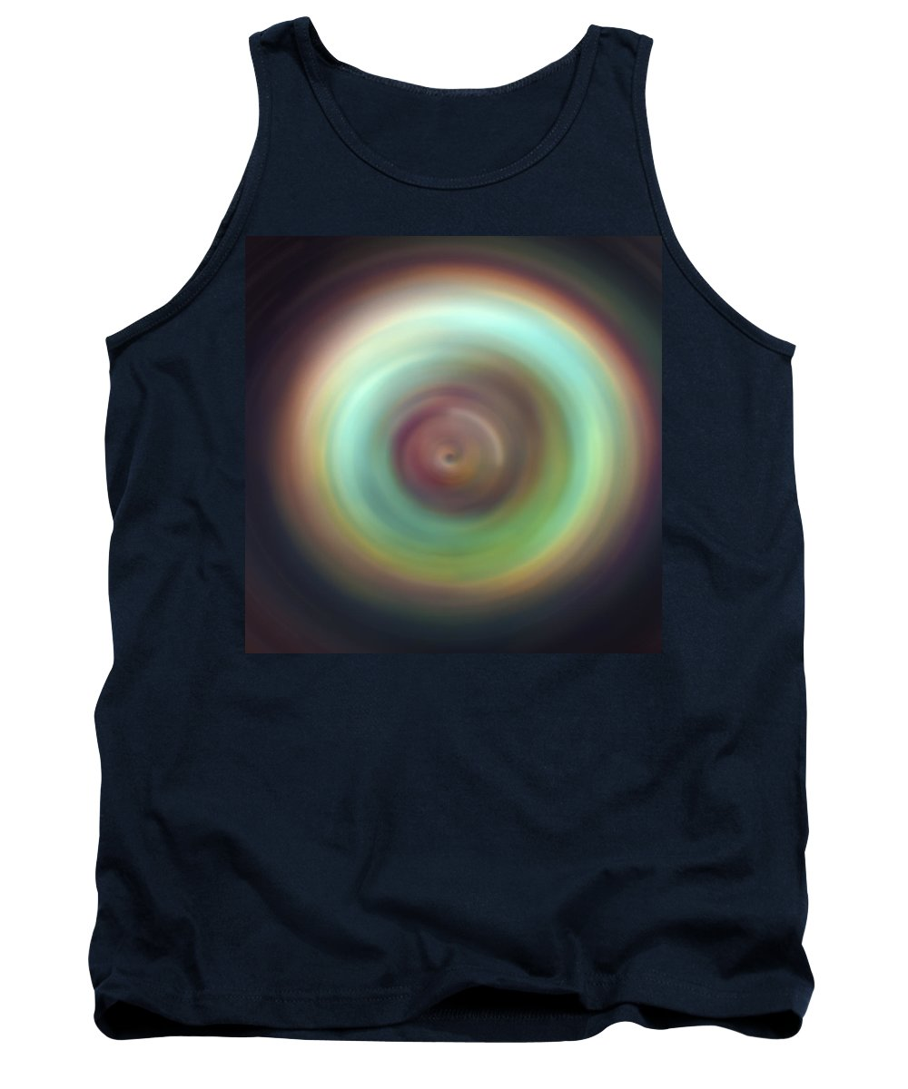 Universe Tank Top featuring the photograph Green Aura Spint Art by Jennifer Rondinelli Reilly - Fine Art Photography