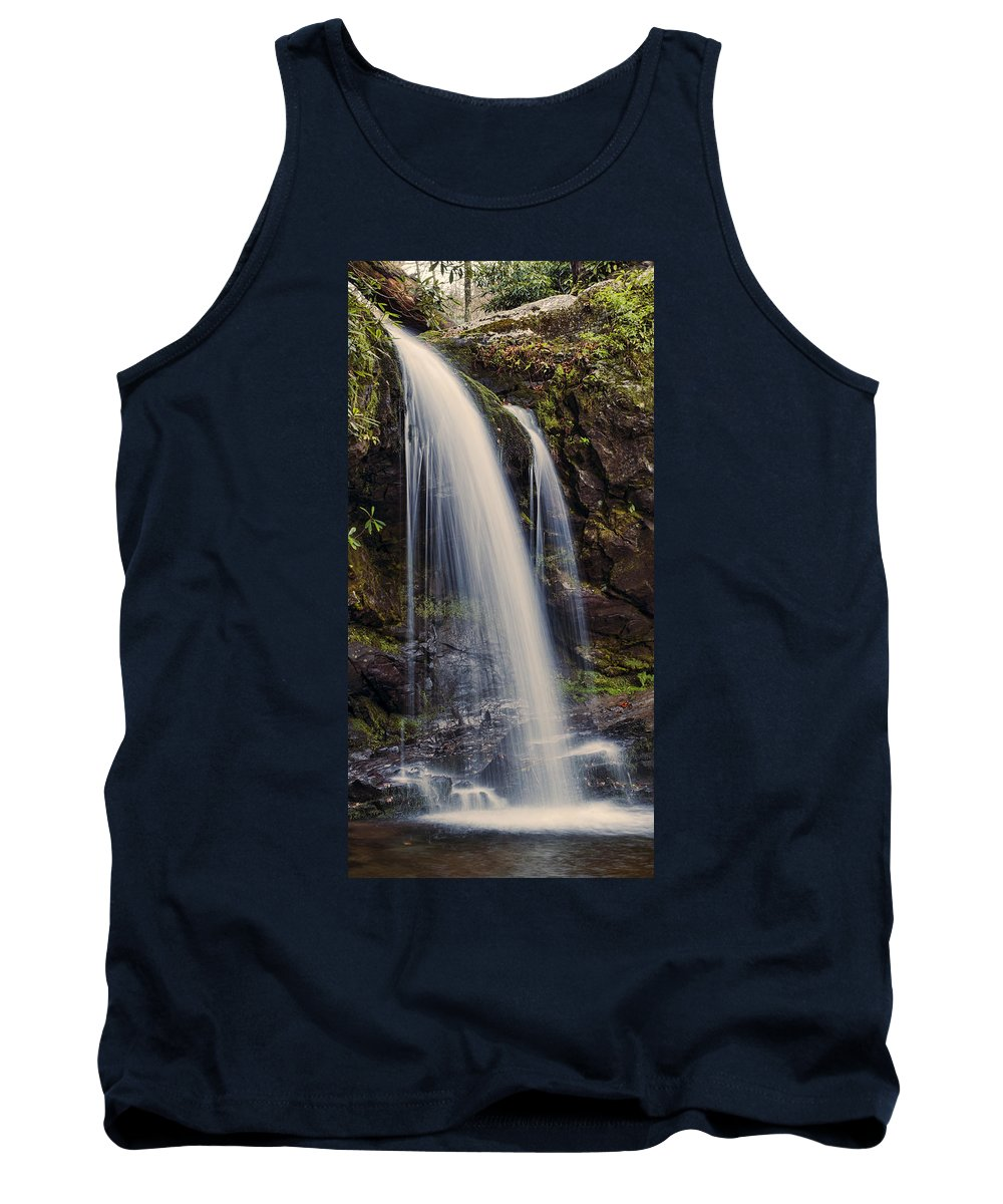 Grotto Falls Tank Top featuring the photograph Grotto Falls Tennessee by Heather Applegate