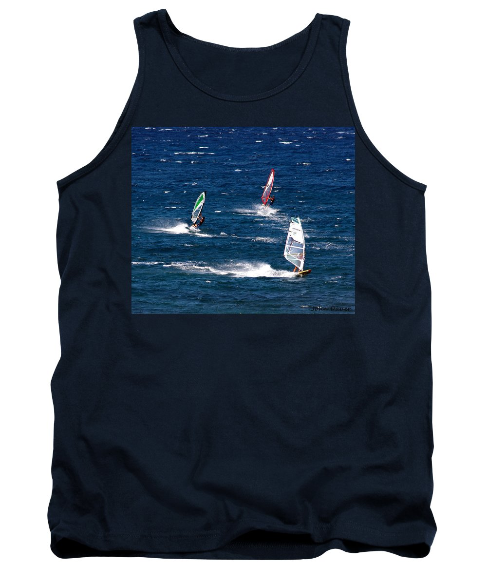 Ocean Tank Top featuring the photograph Group Of Three by John Dauer