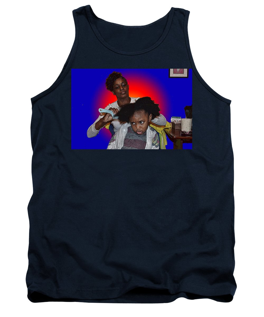 Saturday Tank Top featuring the photograph Hair Time by Cleotha Williams