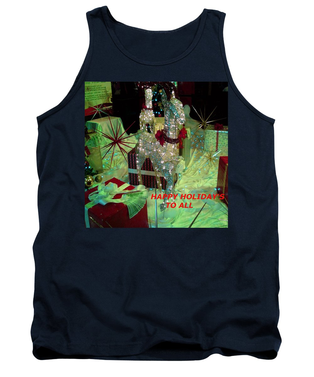 Deer Tank Top featuring the photograph Happy Holidays by Jay Milo