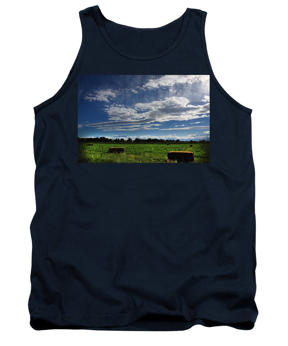 Bail Tank Top featuring the photograph Hay Bales by Shane Bechler
