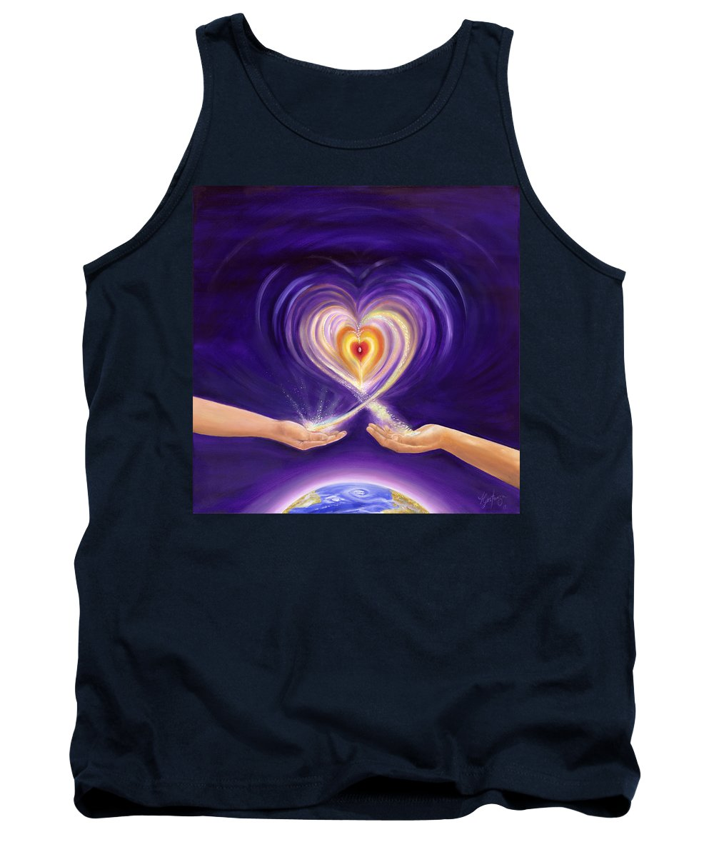 Love Tank Top featuring the painting Heart Unity by Teresa Gostanza