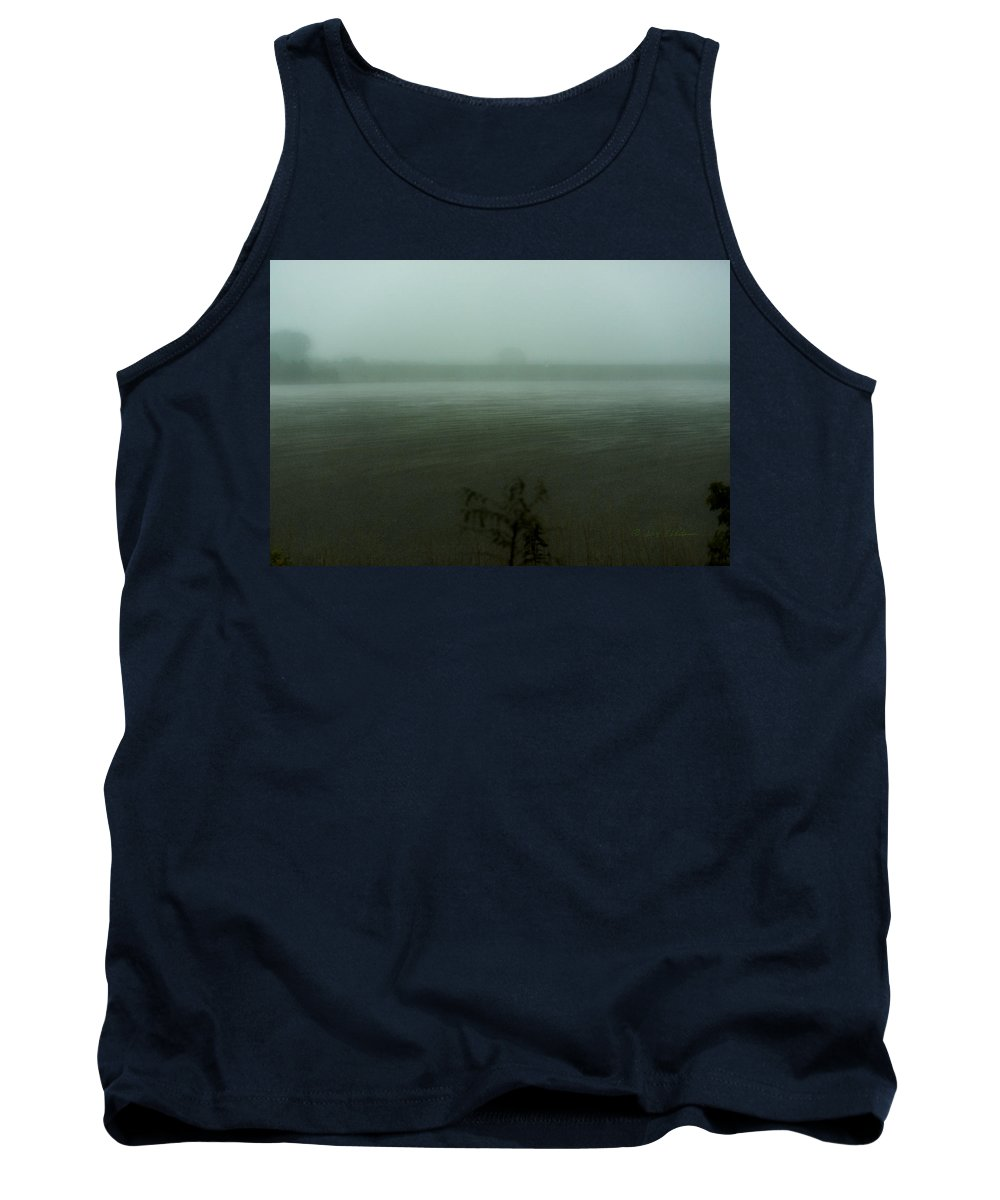 Standing Bear Lake Tank Top featuring the photograph Heavy Rains by Edward Peterson