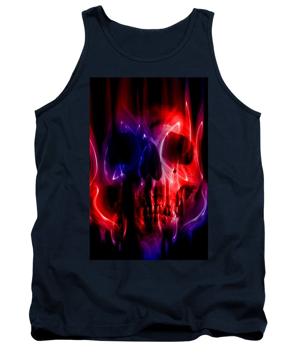 Abstract Tank Top featuring the digital art Hell Fire by Nathan Wright