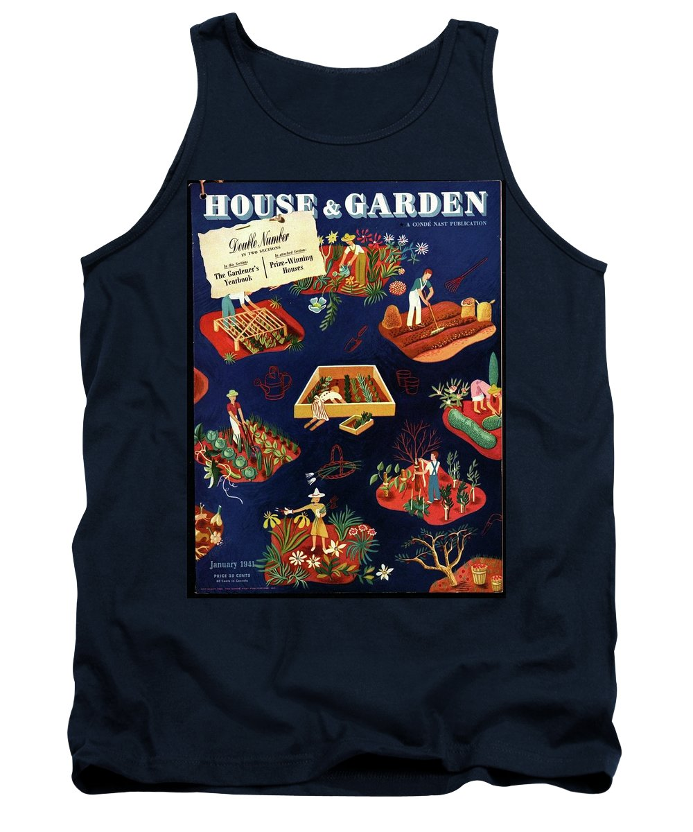 House And Garden Tank Top featuring the photograph House And Garden The Gardener's Yearbook Cover by Ilonka Karasz